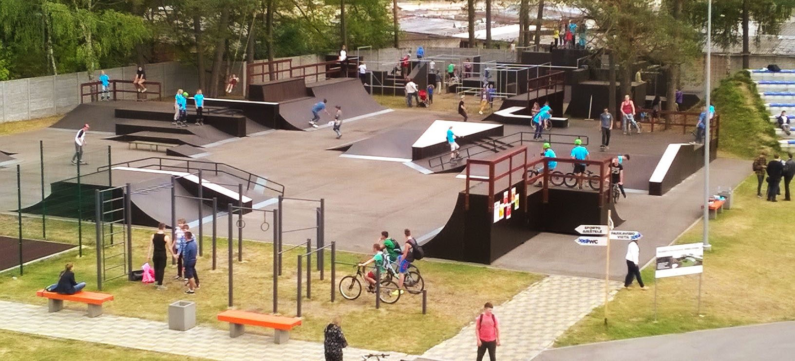 CGS built skatepark with parkour park